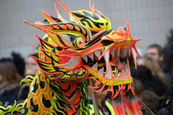 Defile nouvel an lunaire chinois 2015 dans le 13eme arrondissement de Paris