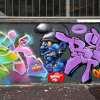 Fresque murale rue Curial